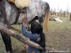 Animal Pass - Hot Indian Girl and Horse